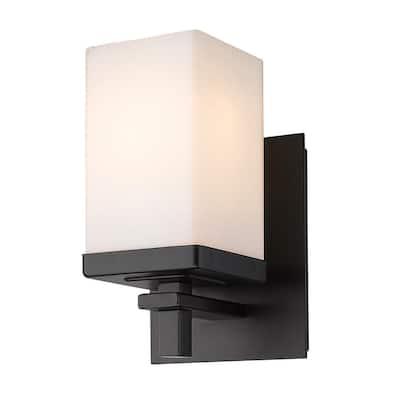 Maddox 1-Light Matte Black Vanity Light