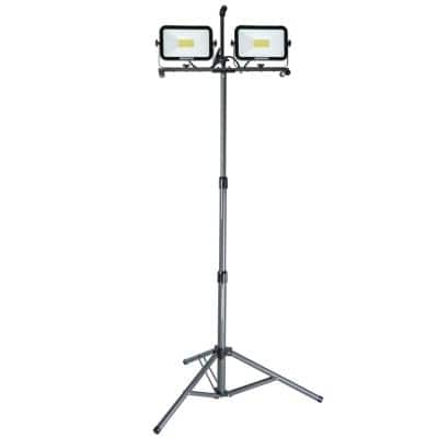 13,000 Lumens Dual-Head LED Work Light with All Metal Adjustable Telescoping Tripod, 9 ft. Power Cord, and Sealed Switch