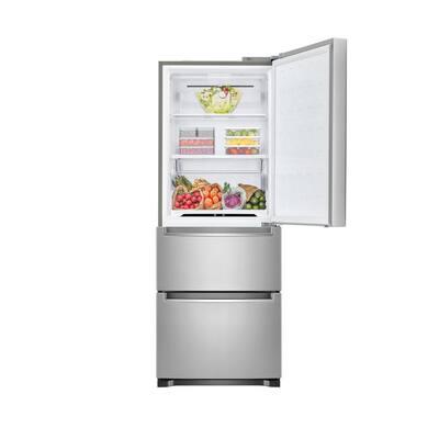 11.7 cu. ft. Bottom Freezer Refrigerator in Platinum Silver, Counter Depth