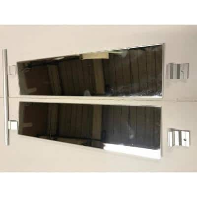 Surface Mount Kit for 36 in. H x 4 in. D Medicine Cabinets, Contains Mirrored Sides with Hanging Hardware