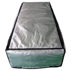 22 in. x 54 in. Attic Stair Cover in Double Reflective Insulation with Adjustable Straps and Zipper Opening