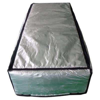 25 in. x 54 in. Attic Stair Cover in Double Reflective Insulation with Adjustable Straps and Zipper Opening