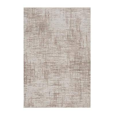 Bernadette Natural 8 ft. x 13 ft. Striped Polypropylene Area Rug