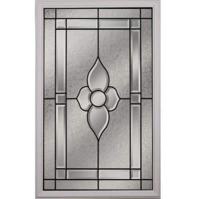 Nouveau with Patina Caming 22 in. x 36 in. x 1 in. with White Frame Replacement Glass