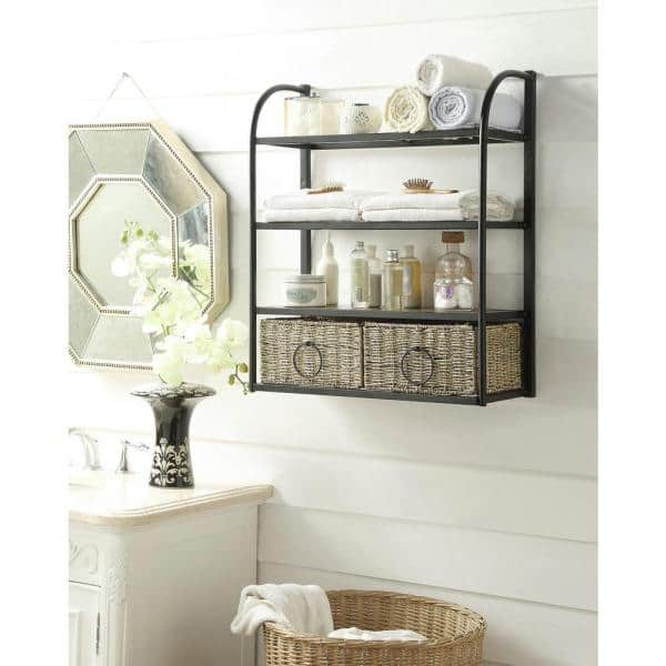 4d Concepts Windsor 24 In W Storage, Bathroom Wall Baskets