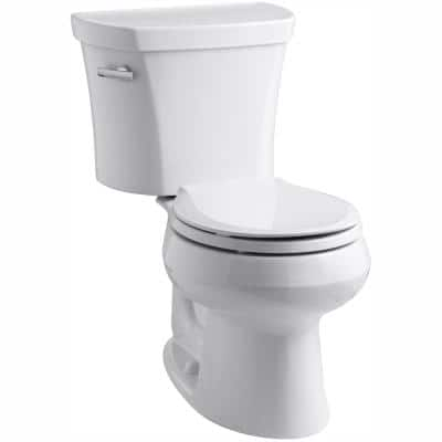 Wellworth 14 in. Rough-In 2-Piece 1.28 GPF Single Flush Round Toilet in White
