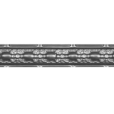 4 in. x 4 ft. Nail-up/Direct Application Tin Ceiling Cornice in Bare Steel (6-Pack)