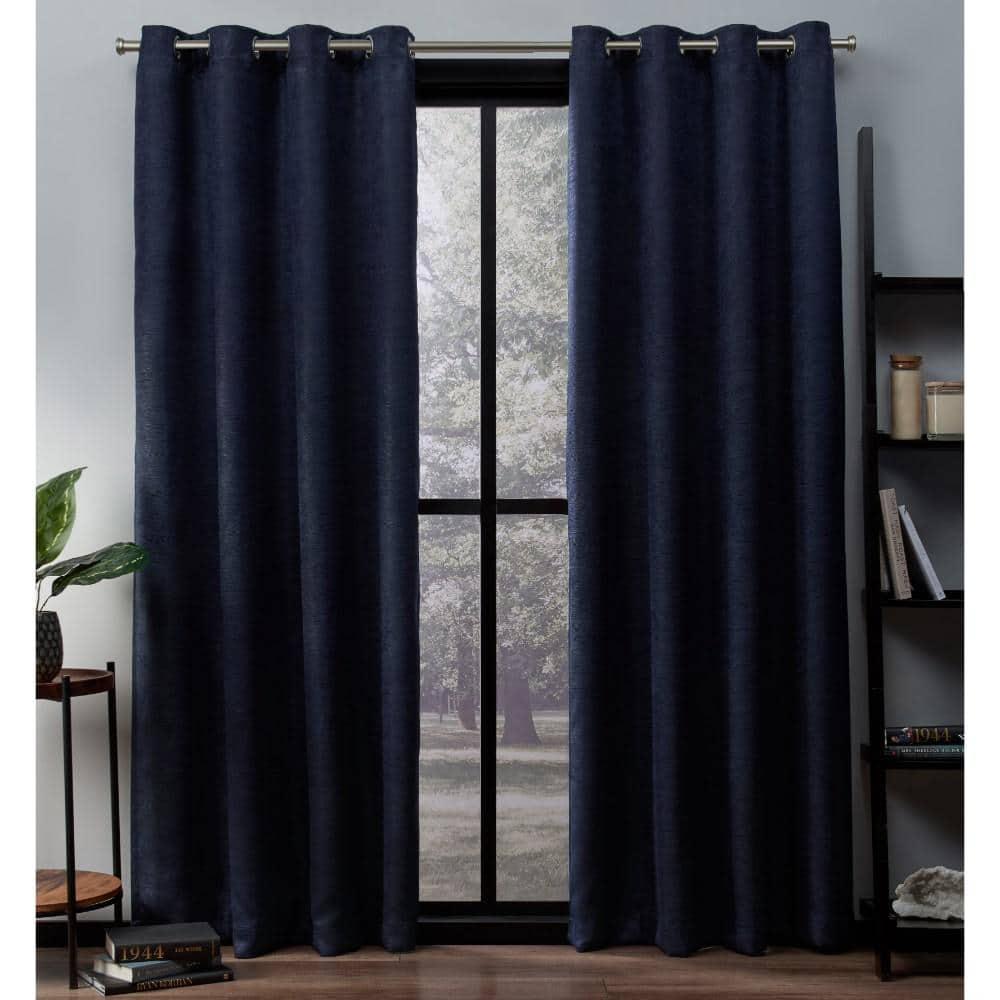 Navy Thermal Grommet Blackout Curtain