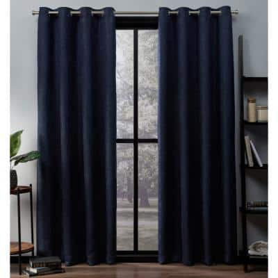 Navy Thermal Grommet Blackout Curtain - 52 in. W x 96 in. L (Set of 2)