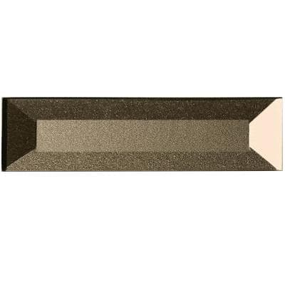 Forever Bronze Reverse Beveled Subway 2 in. x 8 in. Glossy Glass Wall Tile (1 Sq. Ft.)