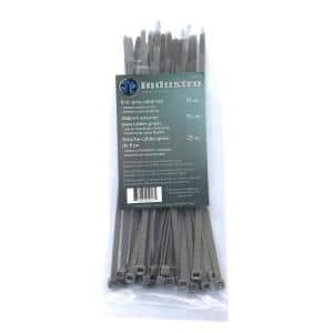 8 in. Grey Cable Tie (25-Pack)