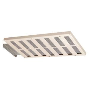 16.5 in. x 1.5 in. Rectangular Almond Built-In Screen Galvanized Steel Soffit Vent (Carton of 12)
