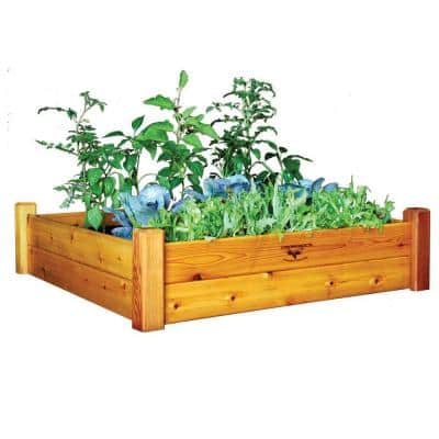 48 in. x 48 in. x 13 in. Safe Finish Raised Garden Bed