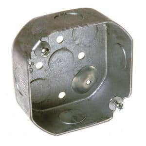 4 in. Drawn Octagon Electrical Box with Raised Ground