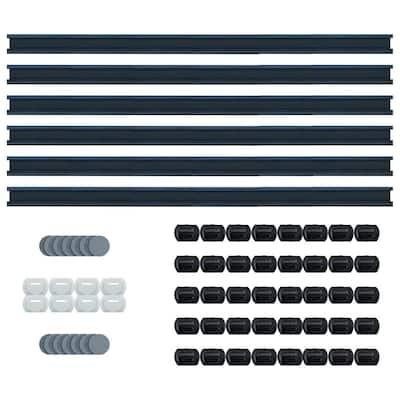 Wall Mount System for Flooring Planks 32 sq. ft. Starter Kit