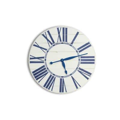 24 in. Navy Nautical Oversized Wall Clock