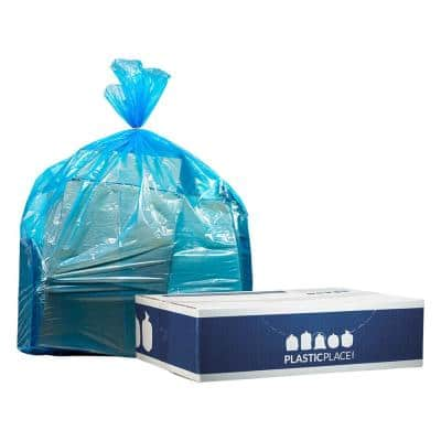 12-16 Gal. Blue Recycling Bags (Case of 250)