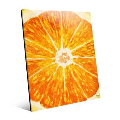 Peak Of Orange Acrylic Abstract Wall Art Print 16 in. x 20 in.