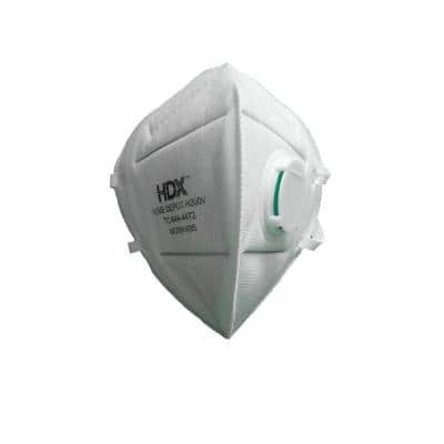 N95 Foldable Respirator Masks with Exhalation Valve M/L (3-Pack)