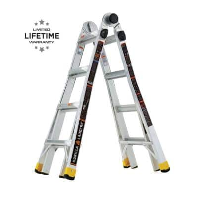 18 ft. Reach MPXA Aluminum Multi-Position Ladder with 300 lbs. Load Capacity Type IA Duty Rating