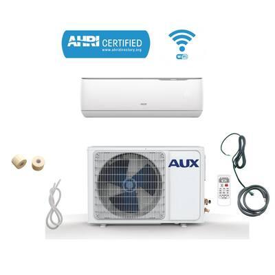 12,000 BTU Ductless Mini Split Air Conditioner with WIFI, Heat Pump 17 SEER 115-Volt 1 Ton, 12 ft. Line Set, Wall Mount