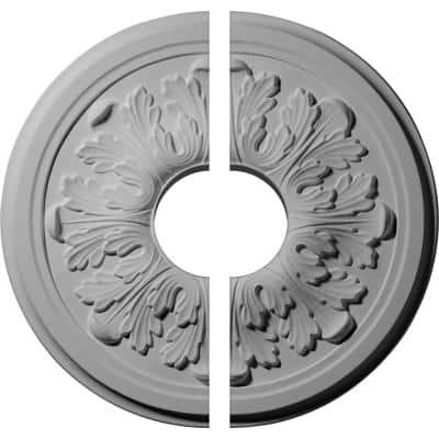 12-3/4 in. x 3-1/2 in. x 7/8 in. Legacy Acanthus Urethane Ceiling Medallion, 2-Piece (Fits Canopies up to 3-1/2 in.)