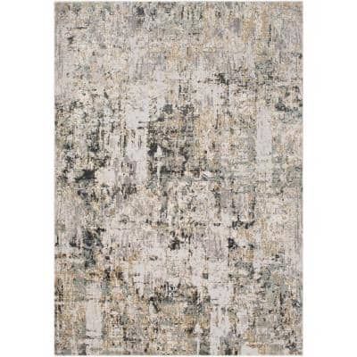 Fortunata Gray 5 ft. 3 in. x 7 ft. 3 in. Abstract Area Rug