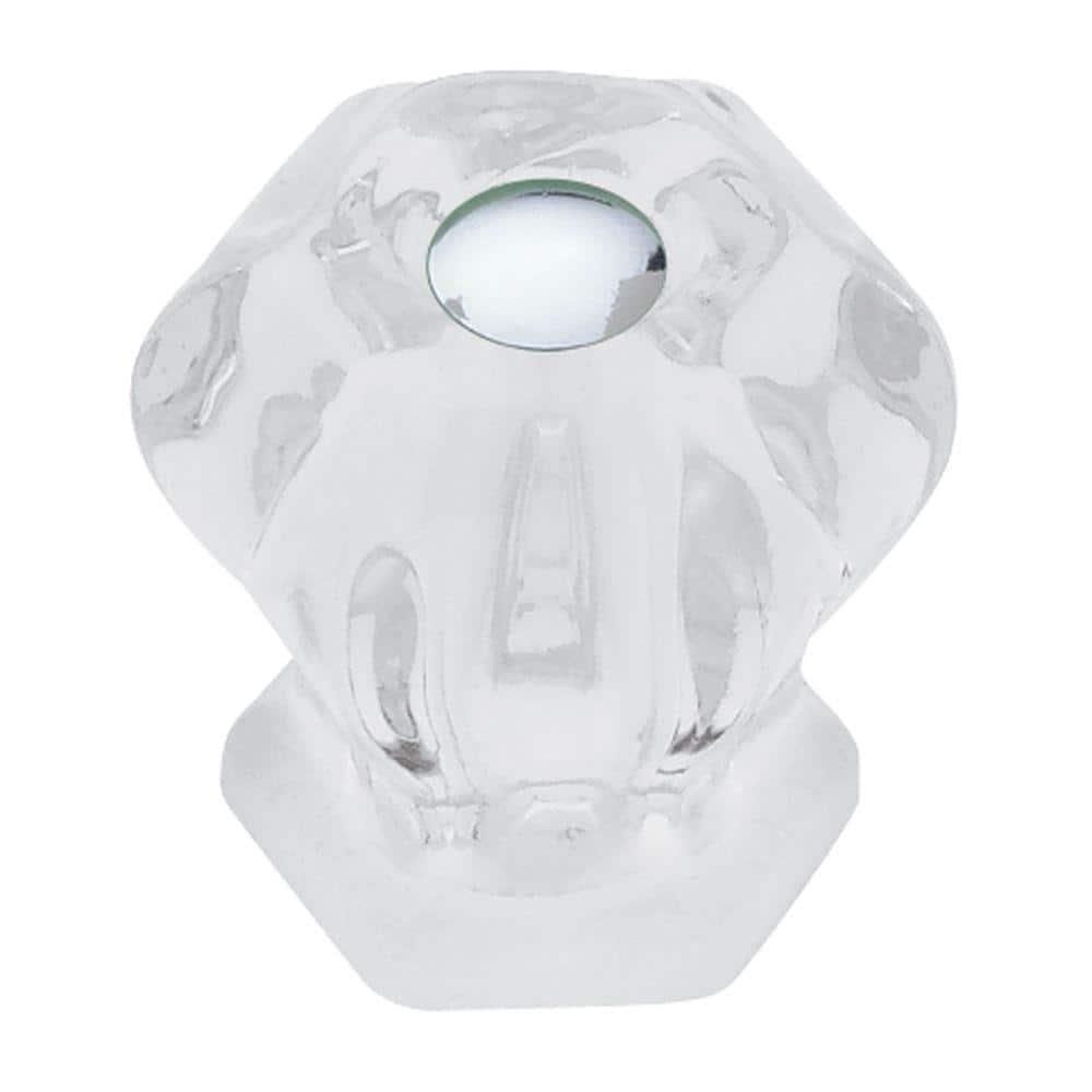 Liberty Victorian 1 1 8 In 28mm Clear Glass Cabinet Knob Pn0238v Cl C5 The Home Depot