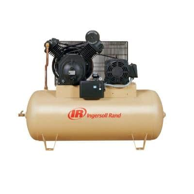 Type 30 Reciprocating 120 Gal. 10 HP Electric 200-Volt 3 Phase Horizontal Air Compressor