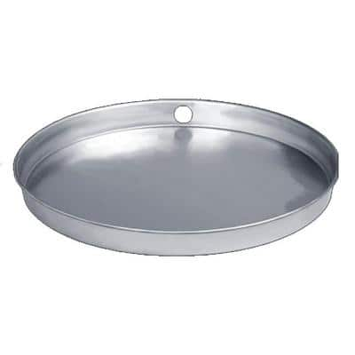24 in. Aluminum Water Heater Pan with PVC Drain Connection (Case of 10)