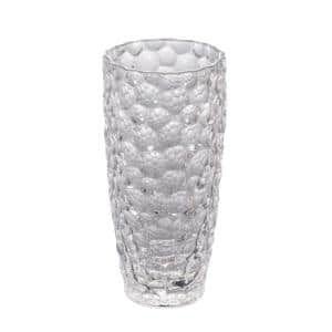 14 in. Clear Vintage Glamour Glass Vase