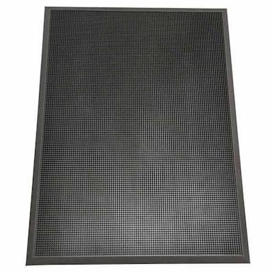 Door Scraper Black 24 in. x 32 in. Recycled Rubber Commercial Mat