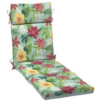 21 x 72 Elea Tropical Reversible Outdoor Chaise Lounge Cushion