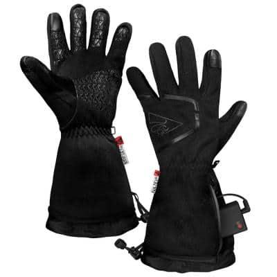 Men's Large/Extra-Large Black AA Heated Featherweight Gloves