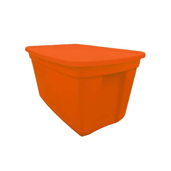 20 Gal Storage Bin Orange, Orange Plastic Storage Totes