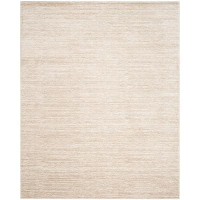 Vision Cream 9 ft. x 12 ft. Solid Area Rug