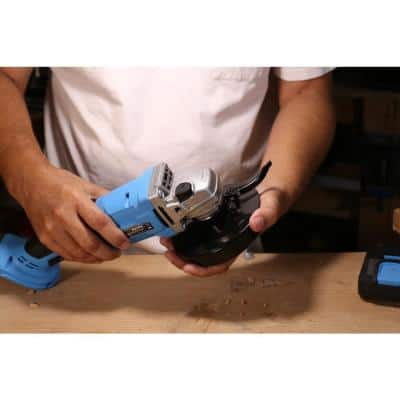 20-Volt Cordless 4-1/2 in. Cut-Off Tool/Angle Grinder with Lithium-Ion Battery, 1-Hour Charger, and Grinder Disc