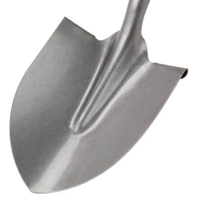 46 in. Long Handle Steel Round Point Shovel