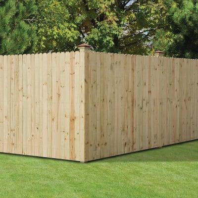 1/2 in. x 4 in. x 6 ft. Dog Ear Brazilian Pine Fence Picket (12-Pack)