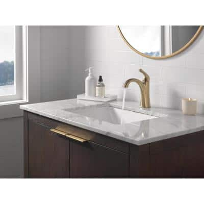 Arvo Single Hole Single-Handle Bathroom Faucet in Champagne Bronze