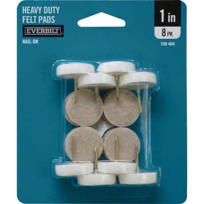 1 in. Nail-On Furniture Glides with Felt Pads (8 per Pack)