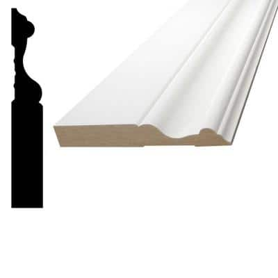 5/8 in. x 4 in. x 96 in. MDF Primed Fiberboard Base Moulding