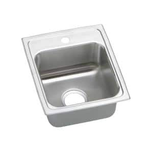 Lustertone Drop-In Stainless Steel 20 in. 3-Hole Single Bowl ADA Compliant Kitchen Sink with 6 in. Bowl