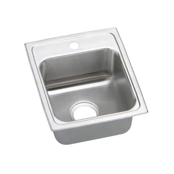 Elkay Lustertone Drop-In Stainless Steel 20 in. 3-Hole Single Bowl ADA Compliant Kitchen Sink with 6 in. Bowl   The Home Depot