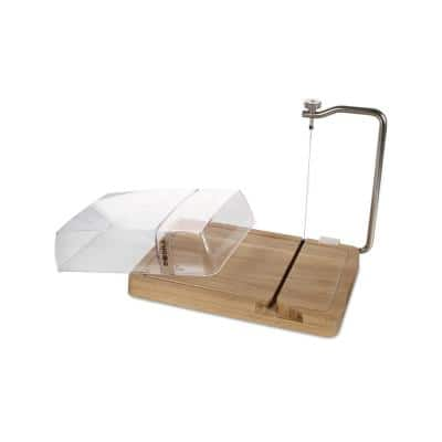 Petit Paris Oak Cheese Board with Cutting Wire and Lid