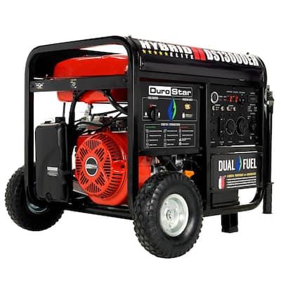 13000-Watt/10500-Watt Push Start Heavy-Duty Dual Fuel Powered Portable Generator Transfer Switch and Home Backup Ready