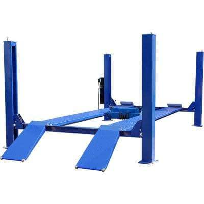 4-Post Lift Cable Driven 12,000 lbs. Capacity in Blue Heavy Duty