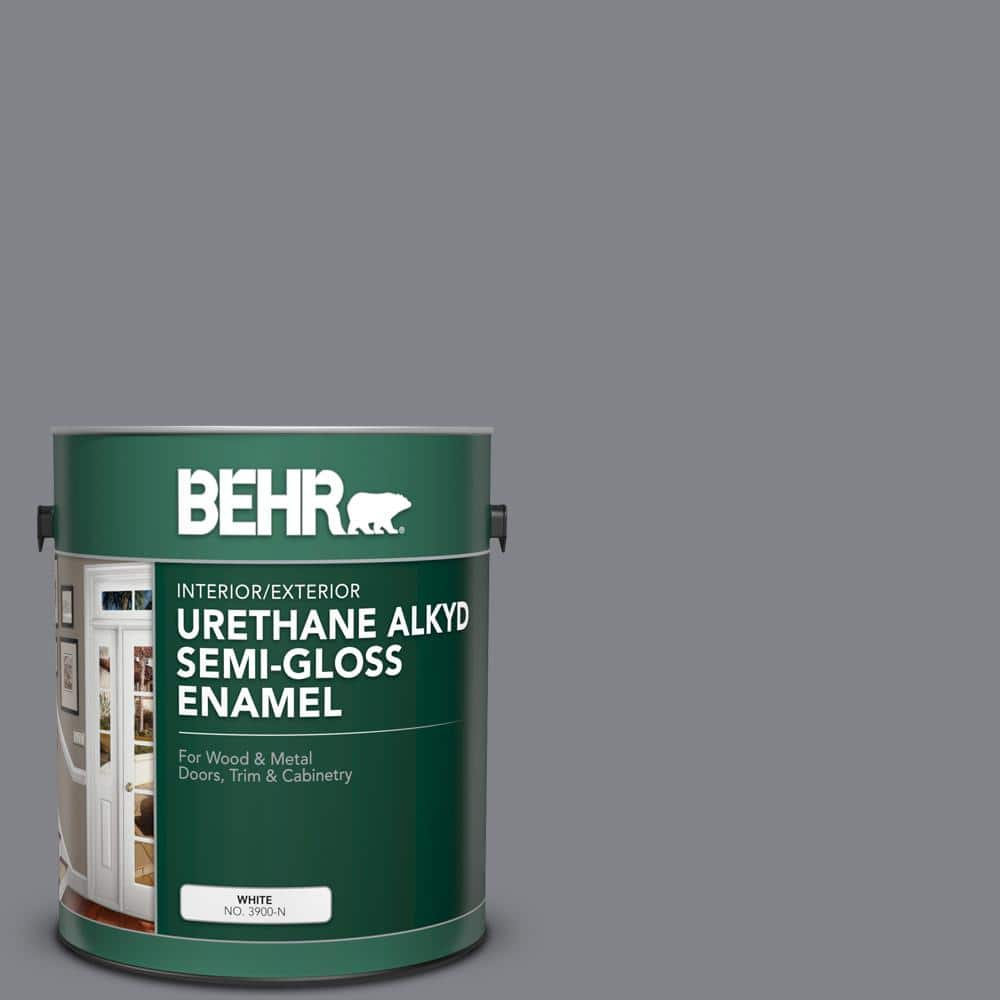 Behr 1 Gal Ae 52 Rising Smoke Urethane Alkyd Semi Gloss Enamel Interior Exterior Paint 393001 The Home Depot