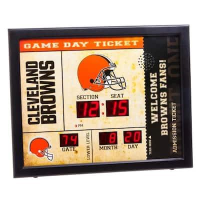 Cleveland Browns NFL Bluetooth Ticket Stub Wall Clock