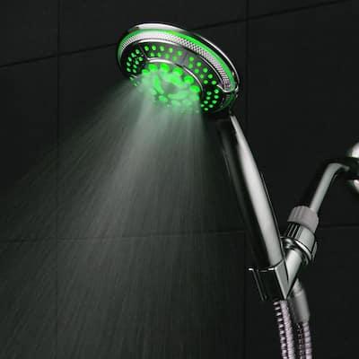 5-Spray Setting LED Handheld Shower in Chrome